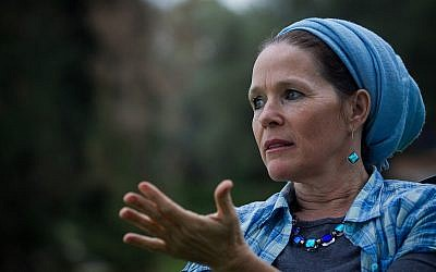 Racheli Fraenkel, mère de l'adolescent juif kidnappé Naftali Fraenkel et assassiné par des terroristes du Hamas au mois de juin 2014, le 18 décembre 2014 (Crédit : Miriam Alster/FLASH90)