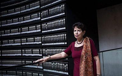 L'historienne israélienne Dina Porat, historienne en chef au Mémorial de la Shoah Yad Vashem le 29 mai 2018. (Miriam Alster/FLASH90)