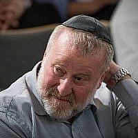 Le procureur général Avichai Mandelblit assiste à une conférence à l'Institut Van Leer de Jérusalem le 2 juillet 2018. (Yonatan Sindel/Flash90)