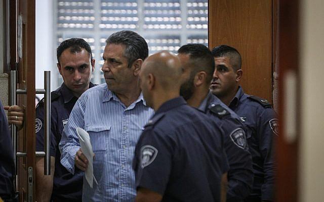 Gonen Segev à la cour de district de Jérusalem, le 5 juillet 2018 (Crédit : Yonatan Sindel/Flash90)