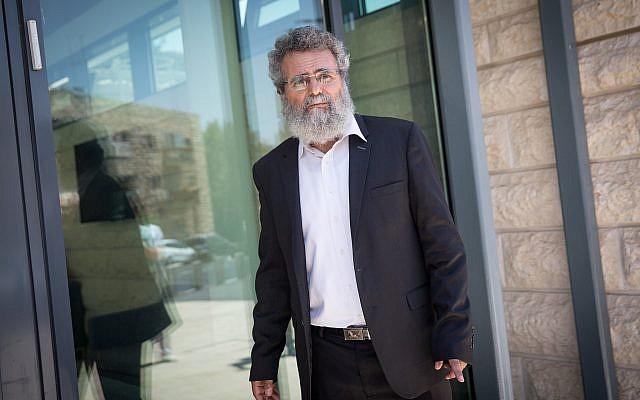 Le rabbin Dov Haiyun à Jérusalem le 19 juillet 2018 (Crédit :  Miriam Alster/FLASH90)