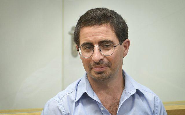 Alon Kastiel au tribunal de district de Tel Aviv le 23 juillet 2018. (Flash90)
