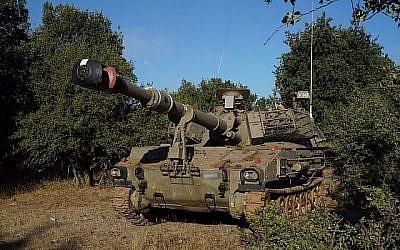 Un char de l'armée israélienne a été déployé sur le plateau du Golan, près de la frontière syrienne, le 1er juillet 2018. (Armée israélienne)