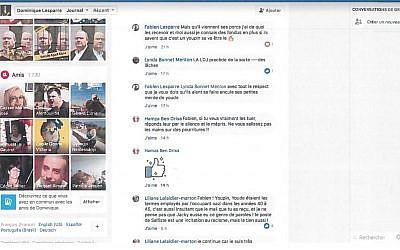 """Capture d'écran des échanges pour lesquels Fabien Lesparre écrit les mots """"youde"""" et """"youpin"""" (Crédit: autorisation)"""