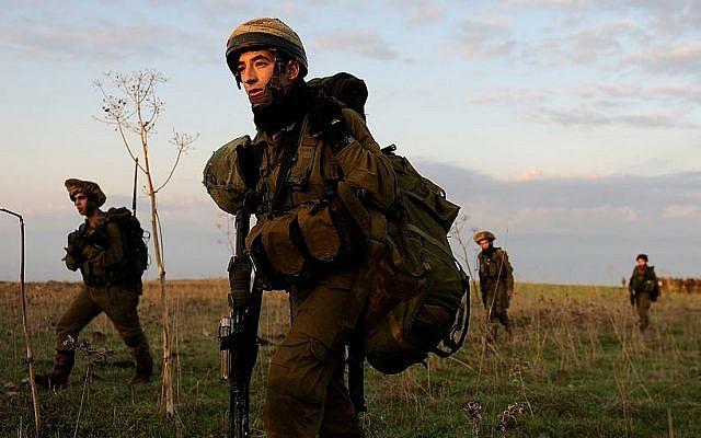 Exercice d'entraînement du Bataillon de l'épée de Tsahal, composé principalement de soldats druzes, en 2011. (CC-BY SA IDF/Wikimedia Commons)