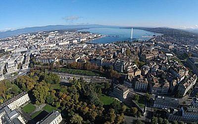 Vue aérienne de Genève (Crédit: Alexey M./Wikimedia Commons)