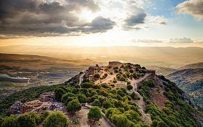 Les vestiges de la forteresse médiévale de Nimrod dans le nord du Golan en Israël (iStock)