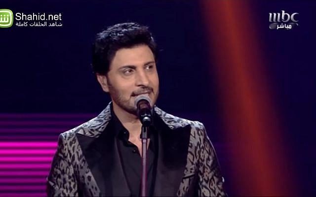 Le chanteur irakien Majid al-Muhandis en 2013. (Crédit : capture d'écran YouTube)