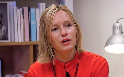 Géraldine Scharz sur Médiapart en octobre 2017 à l'occasion de la sortie de son livre (Crédit: capture d'écran Médiapart/Youtube)