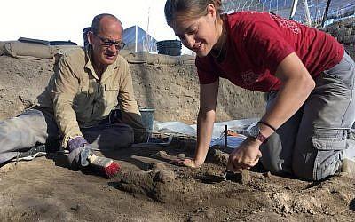 Des fouilles sur un site vieux de 7200 ans à t Tel Tsaf, dans la vallée du Jourdain, juillet 2018 (Autorisation)