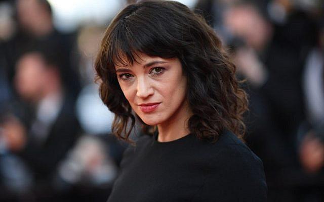 Asia Argento au Festival de Cannes, le 19 mai 2018. (Crédit : AFP/ Loic VENANCE)