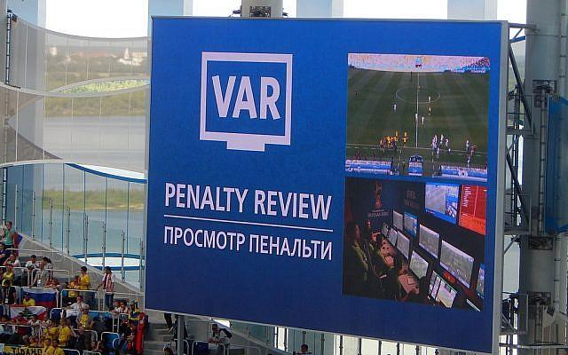 L'arbitrage vidéo utilisé lors du match Suède-Corée du Sud de la Coupe du monde de football de 2018 (Crédit : CC BY-SA 4.0)