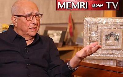 L'ancien Premier ministre jordanien, Abdelsalam al-Majali. (Capture d'écran MEMRI/TouTube)