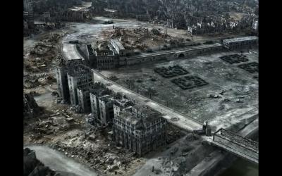 Varsovie après le soulèvement (Capture d'écran : Youtube)