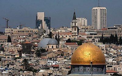 Vue de Jérusalem, photo prise en 2008 (Crédit : Nati Shochat/Flash 90)