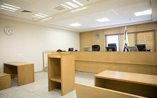 Vue depuis les couloirs de la section des agunots du tribunal rabbinique de Jérusalem, le 17 septembre 2017 (Miriam Alster/FLASH90)