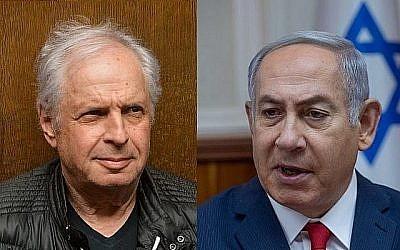 Une image composite du Premier ministre Benjamin Netanyahu (D) et de l'actionnaire majoritaire de Bezeq Shaul Elovitch. (Flash90 / Ohad Zwigenberg / POOL)