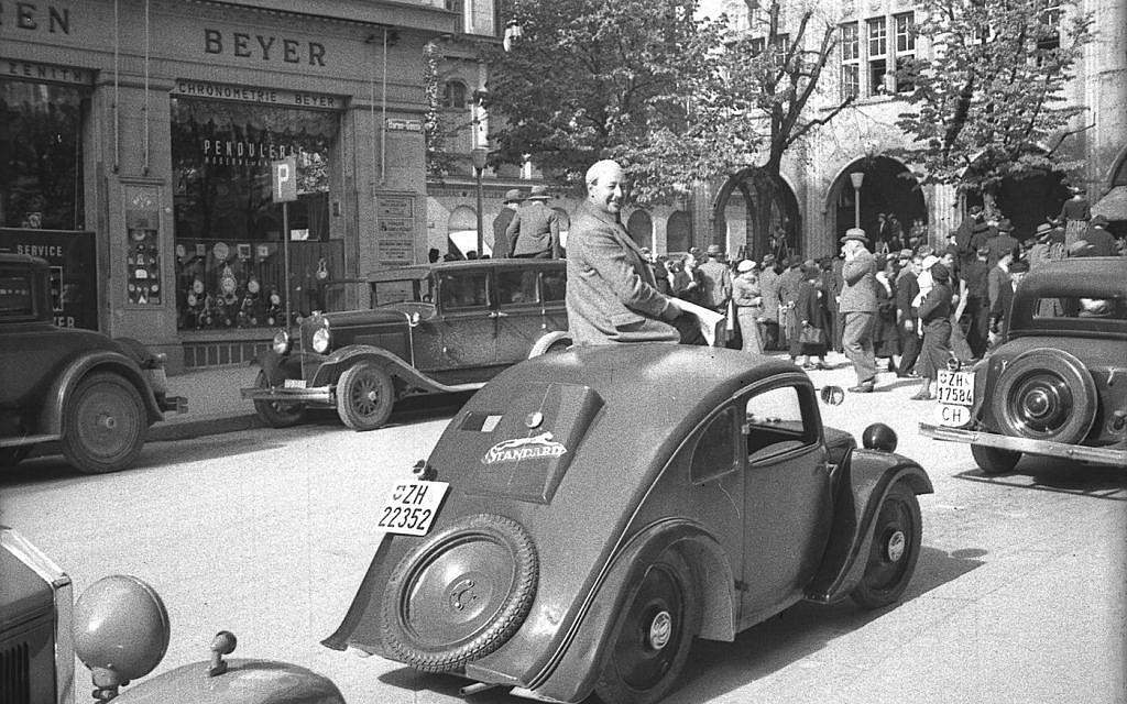 Josef Ganz avec son Standard Superior en 1935. (Avec l'aimable autorisation de Paul Schilperoord)