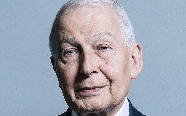 Le député britannique Frank Field. (Crédit : UK Parliament official portrait/Wikipedia/CC BY)