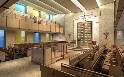 Synagogue Ohel Moshe dans le nouveau Moise Safra Center de Manhattan (Crédit : avec l'aimable autorisation du Moise Safra Center)