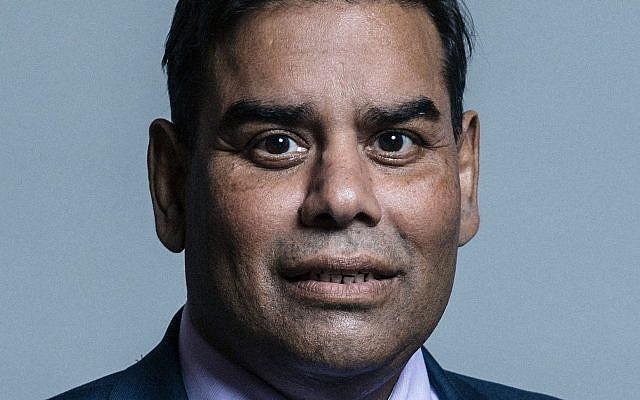 Portrait du député du Labour Khalid Mahmood. (Crédit : CC BY 3.0 Chris McAndrew/Wikipedia)