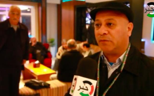 Ahmad Abu Holi, membre du comité exécutif de l'OLP. (Crédit : capture d'écran Youtube)
