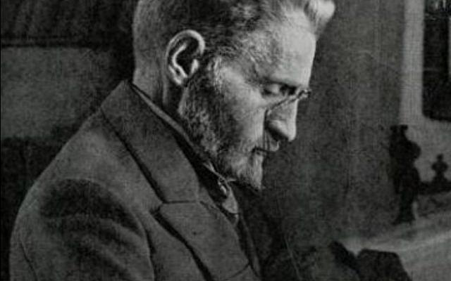 Le lexicographe Eliezer Ben Yehuda (Crédit: domaine public)