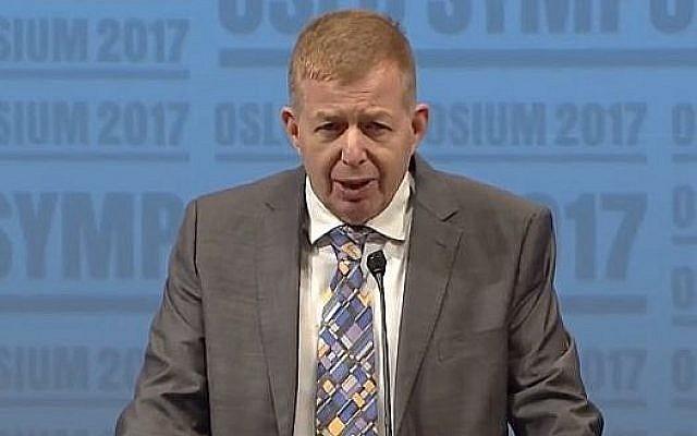 L'ambassadeur israélien en Norvège  Raphael Schutz (Capture d'écran : YouTube)