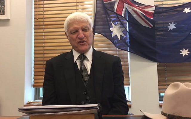 Bob Katter, chef du parti australien de Katter en Australie. (Crédit : Youtube)