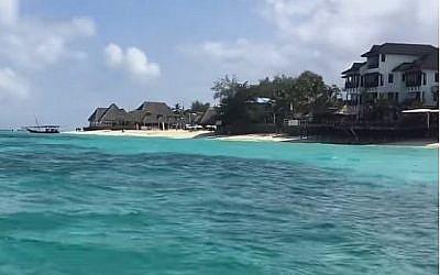 Le village de Nungwi, au Zanzibar. (Capture d'écran : YouTube)