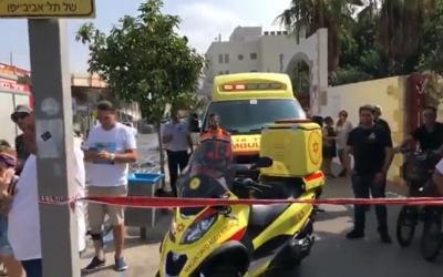 La scène d'un incendie à Jaffa (Capture d'écran)