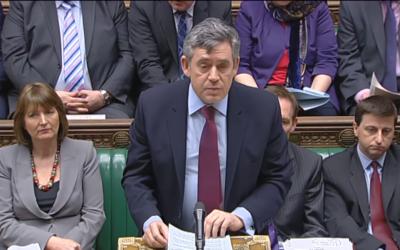 Gordon Brown au Parlement (Capture d'écran : YouTube)