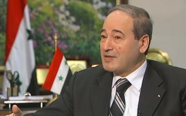 Le vice-ministre des Affaires étrangères syrien Fayçal Meqdad (Capture d'écran : YouTube)