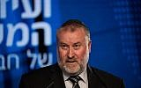 Le procureur général Avichai Mandelblit durant une conférence organisée par Hadashot News à Jérusalem le 3 septembre 2018. (Crédit : Yonatan Sindel/ Flash90)