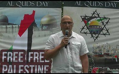 Dimitri Lascaris lors d'un rassemblement en juin 2018 (Capture d'écran/YouTube)