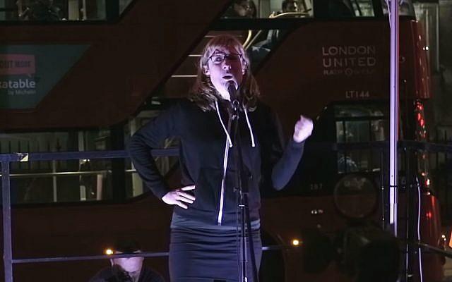 Ewa Jasiewicz, 40, activiste anti-israélienne à la double nationalité britannique et polonaise. (Crédit : capture d'écran YouTube)
