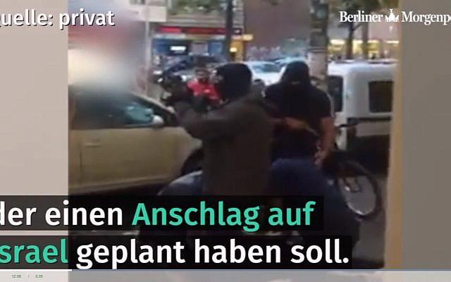 Un Syrien de 21 ans est arrêté à Berlin le 20 septembre 2018. (Capture d'écran : Berliner Morgenpost)