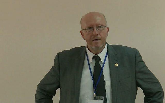 Jan Grabowski, chercheur au Centre polonais de recherche sur la Shoah. (Capture d'écran : YouTube)