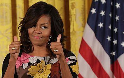 Michelle Obama à la Maison Blanche, le 14 novembre 2016 (Crédit : Chip Somodevilla/Getty Images)