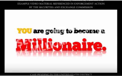 Capture d'écran d'une vidéo présentée dans une plainte déposée par la SEC contre les distributeurs affiliés présumés des entreprises d'options binaires frauduleuses (Capture d'écran : YouTube)