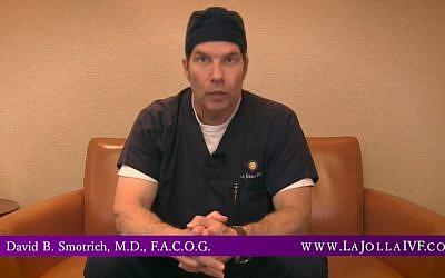 Le spécialiste de la fertilité, le médecin David Smotrich en 2016. (Capture d'écran : YouTube)