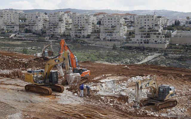 Vue de l'implantation israélienne de Beitar Illit le 14 février 2018. (AFP/ MENAHEM KAHANA)