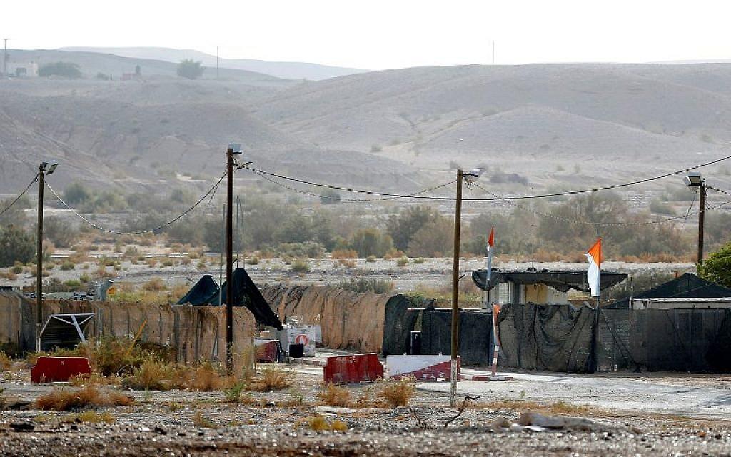 Un chekcpoint près du moshav Tsofar, à la frontière israélo-jordanienne, le 23 ocotbre 2018. (Crédit : JACK GUEZ / AFP)