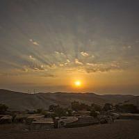 Le hameau de Khan al-Ahmar en Cisjordanie le 13 septembre 2018. (AP Photo/Majdi Mohammed)