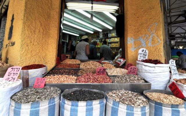 Une vitrine sur le marché Levinsky, Tel Aviv (crédit photo: David Katz)