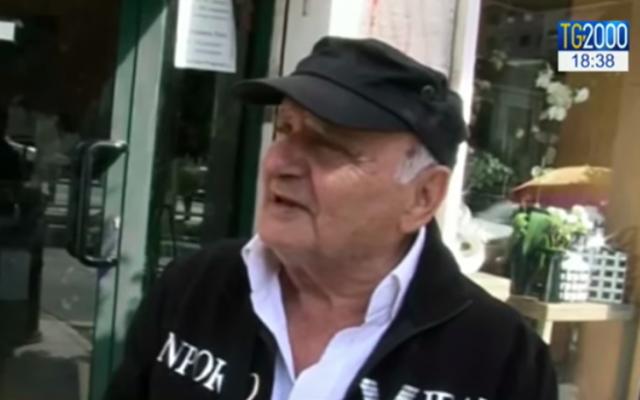 Lello Di Segni (Crédit : capture d'écran YouTube)