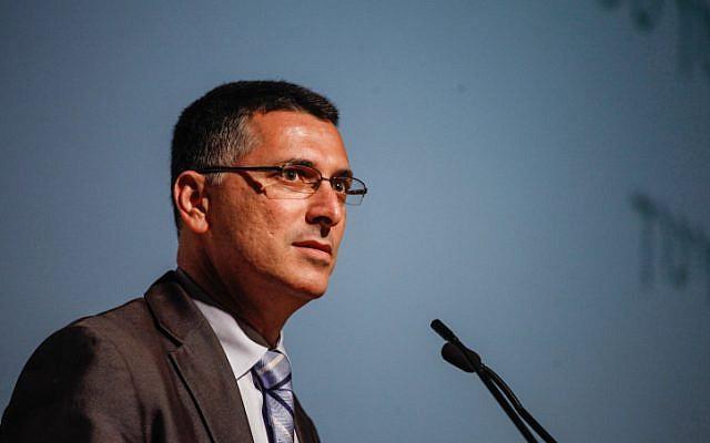 L'ancien ministre de l'Intérieur Gideon Saar. (Crédit : Uri Lenz/Flash90)