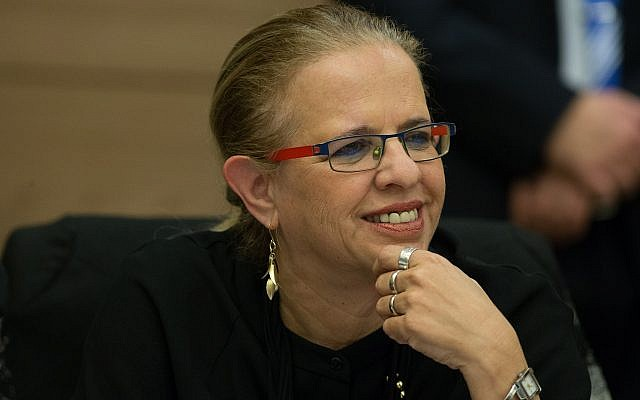 La juge à la retraite  Hila Gerstel lors d'une réunion de la commission de la Constitution, du droit et de la Justice à la Knesset, le 27 janvier 2016 (Crédit : Yonatan Sindel/Flash90)