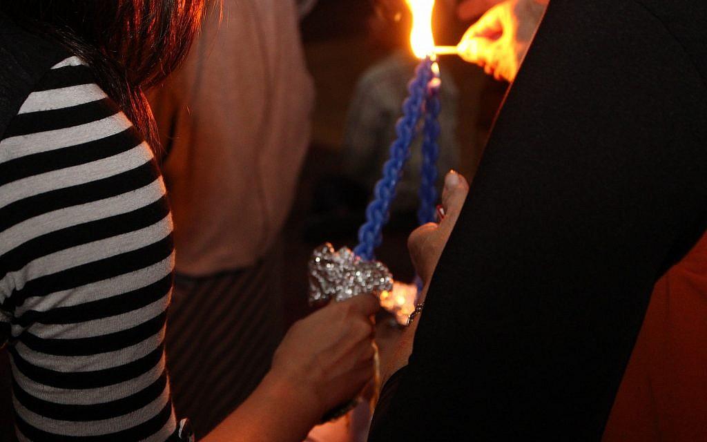 """Une soirée """"havdallah"""" organisée par le Shabbat Project à Memphis, Tennessee l'année dernière. (Autorisation)"""