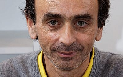 Eric Zemmour en 2012. (Crédit : Thesupermat via Wikimedia Commons/CC BY-SA 3.0)